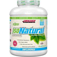 ALLMAX Nutrition, IsoNatural, 100% ультра-чистый натуральный изолят сывороточного протеина (WPI90), без вкуса, 5 фунтов (2,25 кг)