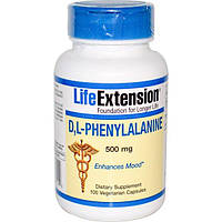 Life Extension, DL Phenyalanine, 500mg, 100 caps