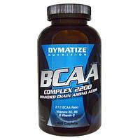 Dymatize Nutrition, Dymatize Nutrition, Комплекс BCAA 2200, аминокислоты с разветвленными боковыми цепями , 400 капсул
