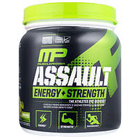 MusclePharm, Assault, Энергия + Сила, предтренировочный комплекс, зелное яблоко, 333 г.