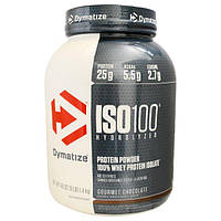 Dymatize Nutrition, ISO 100, 100% гидролизованный изолят сывороточного белка со вкусом шоколада, 3 фунта (1342 г)