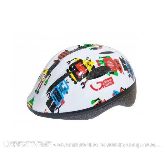 Шлем детский Green Cycle ROBOTS размер 50-54см белый (ОРИГИНАЛ)
