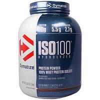 Dymatize Nutrition, Гидролизированный ISO 100 , 100% -ный сывороточный изолят ,протеина, гурманский шоколад, 5 фунтов (2,3 кг)
