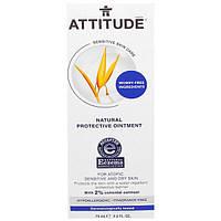 ATTITUDE, Натуральная Защитная Мазь, без Запаха, 2,5 жидких унций (75 мл)