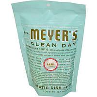Mrs. Meyers Clean Day, Пакетики для посудомоечной машины, запах базилика 12.7 унции (360 г)