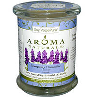 Aroma Naturals, 100% Натуральная Соевая Свеча Спокойствие с Эфирным Маслом Лаванды, 8.8 унций (260 г)