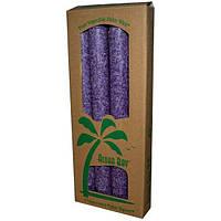 Aloha Bay, Свечи из пальмового воска, без запаха, фиолетовые, 4 шт, длина 9 дюймов (23 см)