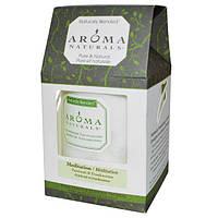 Aroma Naturals, Столовая свеча с натуральными смесями, для медитации, с пачули и ладаном, 7,6 x 8,9 см