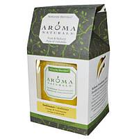 Aroma Naturals, Натуральная смесь, столовая свеча, атмосфера, апельсин и лемонграсс, 3 дюйма х 3.5 дюйма