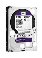 "Жесткий диск HDD 3.5"" WD Purple 2TB, 5400 об/мин, S-ATA III, 600 MB/с, кэш-память 64 MB"