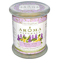 Aroma Naturals, 100% Натуральная Соевая Свеча Безмятежность с Эфирными Маслами Иланг-Иланга и Лаванды, 8.8 унций (260 г) 3 х 3,5