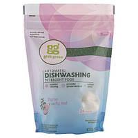 GrabGreen, Моющее средство для посудомоечной машины, тимьян и фиговый лист, 24 загрузки, 15,2 унции (432 г)