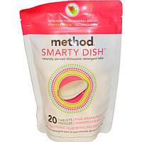 Method, Smarty Dish, Таблетки для посудомоечных машин, Розовый грейпфрут, 20 таблеток