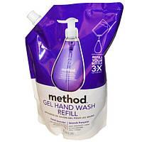Method, Гель-мыло для рук, наполнитель, французская лаванда, 34 жидких унции (1 л)