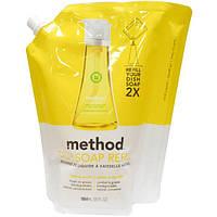 Method, Наполнитель средства для мытья посуды с лимоном и мятой, 36 жидких унций (1064 мл)
