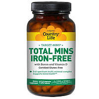 Country Life, Target-Mins, Total Mins, Iron-Free, 150 Veggie Caps