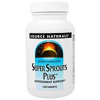 Source Naturals, Супер-ростки плюс, пищевая добавка для поддержания уровня антиоксидантов, 120 таблеток