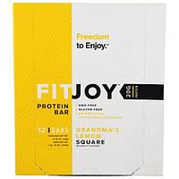 FITJOY, Protein Bar, Grandmas Lemon Square, 12 Bars, 2.18 oz (62 g) Each