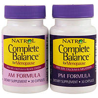 Natrol, Complete Balance for Menopause AM & PM Formula, Two Bottles 30 Capsules Each