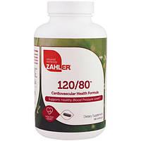 Zahler, 120/80, средство для укрепления сердечнососудистого здоровья, 180 капсул