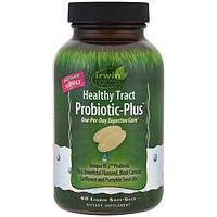Irwin Naturals, Пробиотик для здоровья пищеварительного тракта Plus, 60 капсул с жидким содержимым