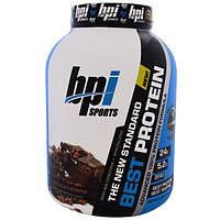 BPI Sports, Лучший протеин, передовая формула 100%-ного протеина, шоколадное брауни, 5,1 фунта (2329 г)