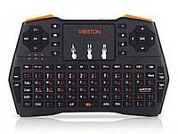 Бездротова міні клавіатура Viboton i8 USB 2.0 2.4 ГГц для ПК Андроїд Xbox360  чорний
