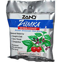Zand, Леденцы от кашля с вишнево-ментоловым вкусом Zumka, Herbalozenge, Cherry Menthol Flavor, 15 гомеопатических леденцов