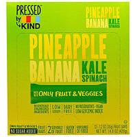 KIND Bars, Pressed by KIND, ананас, банан, капуста и шпинат, 12 фруктовых батончиков - 1,2 унции (35 г) каждый