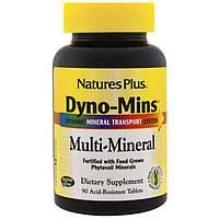 Natures Plus, Дино-Минс, мультиминерал, 90 кислотостойких таблеток