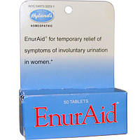 Hylands, EnurAid от недержания, 50 таблеток