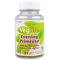 VegLife, Энотера, 1000 мг, 60 веганских мягких капсул