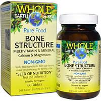 Natural Factors, Пищевая добавка Непочатое море и земля, мультивитаминный и минеральный комплекс для здоровья костей, 60 таблеток