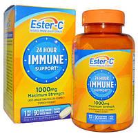 Natures Bounty, Круглосуточная иммунная поддержка, максимальная сила, 1000 мг, 90 таблеток