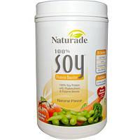 Naturade, 100% Бустер Соевого Протеина с Натуральным Вкусом, 29.6 унций (840 г)
