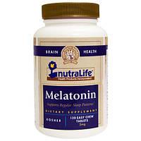 NutraLife, Мелатонин, 3 мг, 120 легкоразжевываемых таблеток
