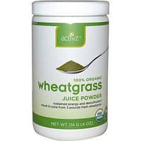 Activz, Органический сок из ростков пшеницы, порошок, 4 унции (114 г)
