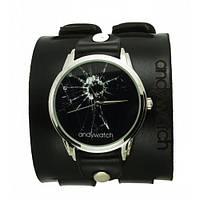 Часы наручные дизайнерские Разбитое стекло
