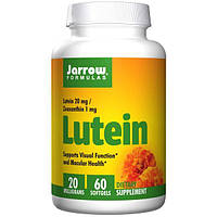 Jarrow Formulas, Лютеин, 20 мг, 60 капсул