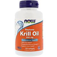 Now Foods, Рыбий жир из криля Нептун (NKO), 500 мг, 120 мягких желатиновых капсул