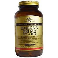 Solgar, Омега-3, EPA и DHA, двойная сила, 700 мг, 120 капсул