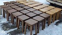 Табурет деревянный кухонный из массива дуба