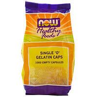 Now Foods, Healthy Foods, желатиновые капсулы 0, 1000 пустых капсул