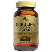 Solgar, Спирулина, 750 мг, 250 таблеток