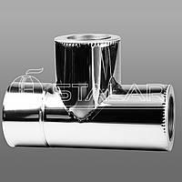 Тройник 90 TERMO 150х220 нерж/оц 0,5 мм 201
