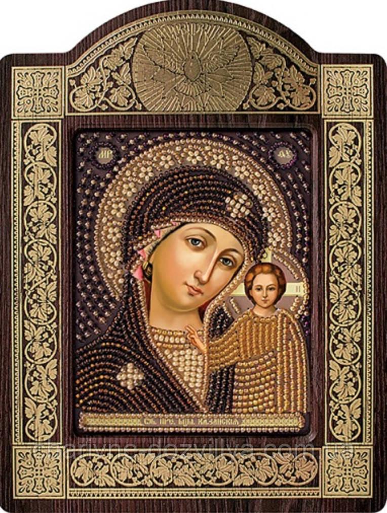 """Набор в резной рамке для вышивания бисером икона """"Богородица Казанская"""""""