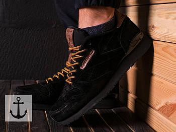 Мужские кроссовки Reebok Classic (Рибок Классик) черные