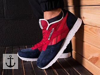 Мужские кроссовки Reebok Classic (Рибок Классик) красно-синие