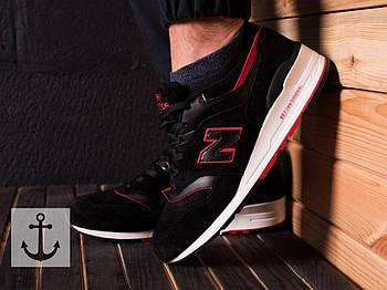 Мужские кроссовки New Balance 997 (Нью Баланс) черно-красные
