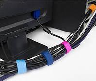 Стяжка на липучке MirAks TE-3761 (Для проводов) Цвет Голубой